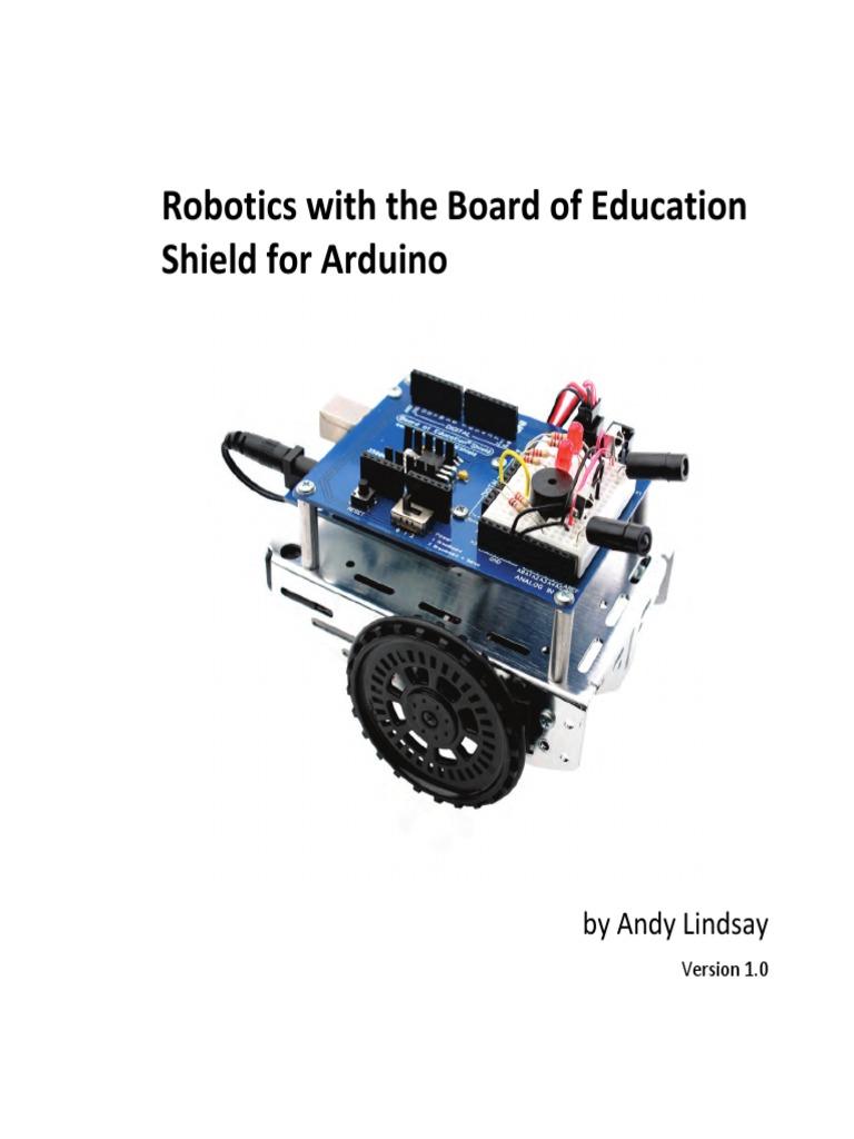 Arduino robotics shieldbot pdf c programming