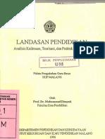 Landasan Pendidikan - Analisis Keilmuan, Teorisasi Dan Praktik Pendidikan - Prof. Dr. Mohammad Dimyati
