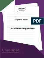 Unidad 3. Actividades de Aprendizaje