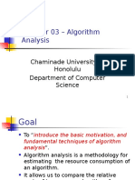 CS350-CH03 - Algorithm Analysis