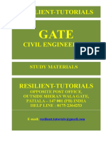 Gate Civil Engineering Syllabus