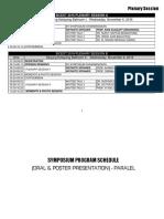 Sicest Plenary-presentation Schedule