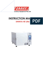 Instruction Manual Shinva 45Litre Autoclave240V With Printer