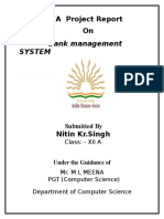 Project_bank Management System
