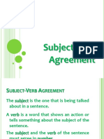 CS English Review Oct 2015 Subject - Verb Agreement PDF