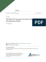 The Role of Cooperative Societies in the Economic Development