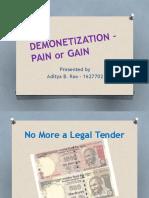 Demonetization – Gain or Pain