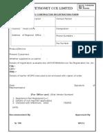 Vendor Registration Format