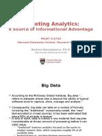 Marketing Analytics Slides