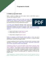 Modul I- C 1, C 2-Introducere in Programarea Vizuala