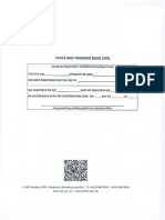 Stock and Transfer Book