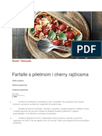 Farfale s Piletinom i Cherry Rajcicama