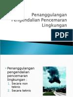 Penanggulangan Pengendalian Pencemaran Lingkungan