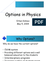 Physics Options