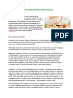Pregnancy Diet, Nutrotion and Exercising
