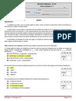 2ª-A -Ficha de Aplicação 16 Janeiro
