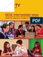 GESE Intermediate Steps - Guide for Teachers, Grades 7-9