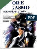 Amor e Orgasmo - Lowen (Cap. 1)