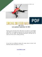 Drone 280 User Manual V1.1.1.0