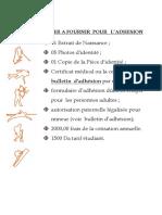 Dossier a Fournir Pour Page FB