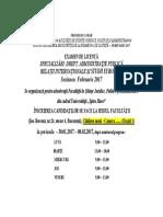 Programul Orar Al Secretariatului Facultăţii de Drept Şi Administraţie Publică