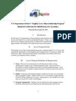 Access Program Request for Grant Proposals for Algeria