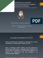 La Actitud Del Docente Universitario.