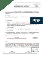 2GDLSEG013 Procedimiento Para Realizar Las Autoinspecciones Sanitarias v00