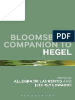Allegra de Laurentiis , Jeffrey Edwards (Editors) The Bloomsbury Companion to Hegel