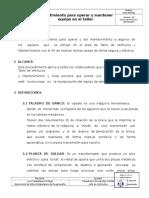 2GDLSEG021 Procedimiento Para Operar y Mantener Equipo en El Taller v00