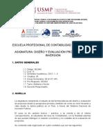 Sílabo Diseño y Evaluación Proyectos de Inversión - 2013 - i - II