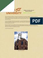 Bethel University Teachers' Manual