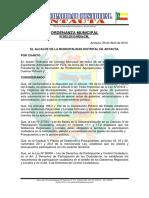 Ordenanza Municipal 003-2010x