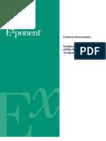Exponent Response to the FDA Summary