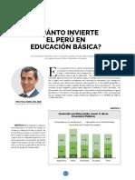 Cuanto Invierte El Peru en Educacion Basica