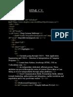 HTML C.V OK