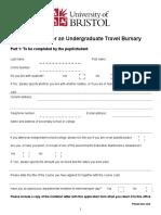 Travel Bursary Application Form