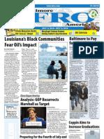 Baltimore Afro-American Newspaper, July 03, 2010