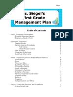 Dena Siegel's Management Plan