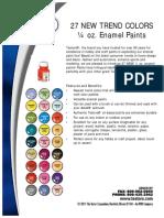 Testors New Product Sell Sheets 2012
