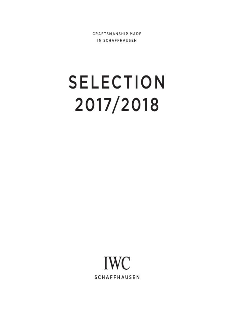 IWC Catalogue 2017 - 2018  b067a2b3bf