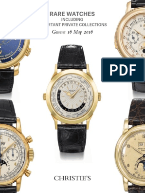 528eaf2a54dab Rare watches (Christie's) 16. 05. 2016. | Watch | Clock