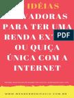 20 Ideias de Renda Extra Pela Internet