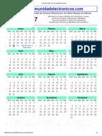 Calendario 2017 de Comunidad Electrónicos