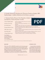 2o Estudio Nacional de Prevalenciaas de UPP