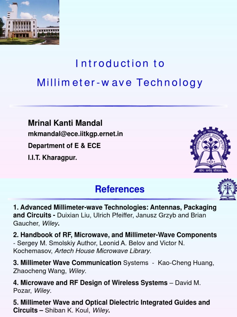 MM Wave Technology Part1 iit lecture | Extremely High Frequency | Microwave
