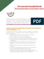 Plan Nacional de Educación Intercultural Bilingüe