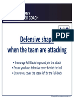 Defensive Structure in Attack