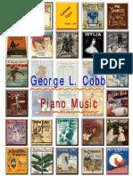 Cobb George Linus. Piano Music. 58 Scores + midi