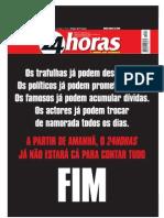 Portuguese Newspaper 24 Horas last edition